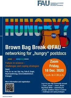 "Towards entry ""Brown Bag Break@FAU: Failure in science – challenges and coping strategies"""